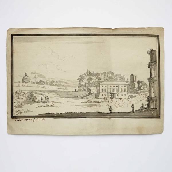 Wall Art - Painting - Fredrik Adolf  1750-1803  Italian Landscape by Fredrik Adolf