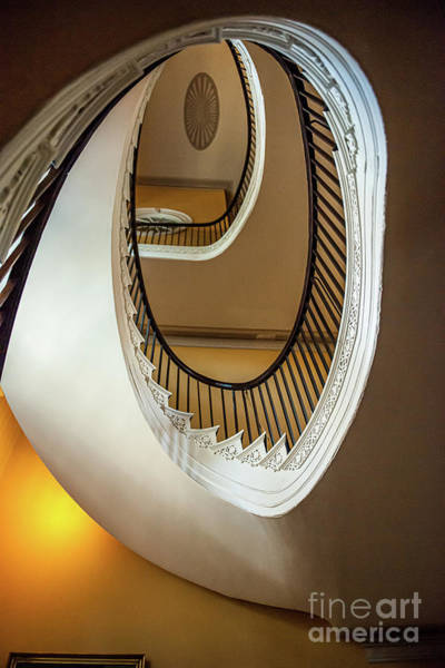 Photograph - Free Floating Spiral Staircase - Nathaniel Russell House by Dale Powell