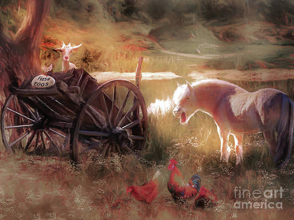 Country House Digital Art - Free Range Farm by Shanina Conway