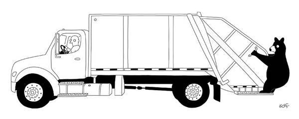 Trash Drawing - Free Ride by Seth Fleishman