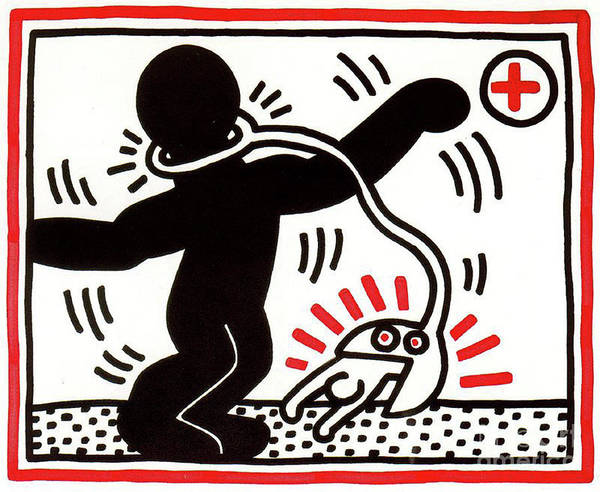 Wall Art - Painting - Free South Africa Apartheid by Haring