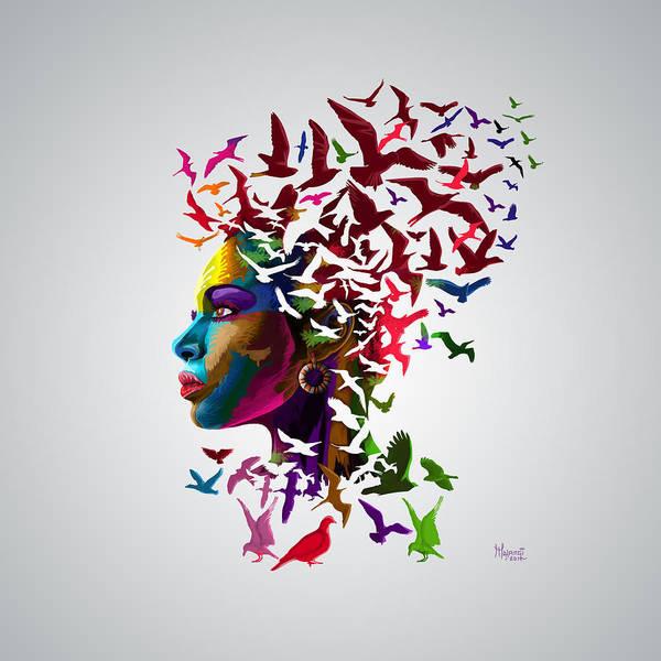 Free Dive Wall Art - Painting - Free Thinker by Anthony Mwangi