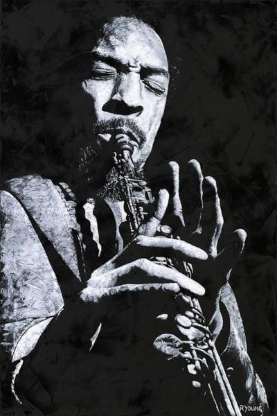 Wall Art - Painting - Freedom In Sax by Richard Young