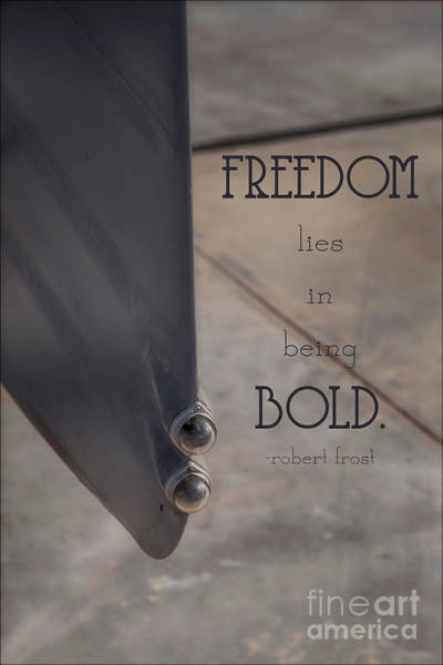 Photograph - Freedom Is Bold by Natural Abstract Photography