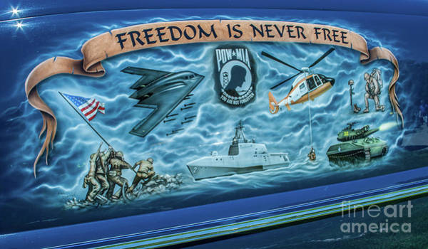 Photograph - Freedom Is Never Free by Tony Baca