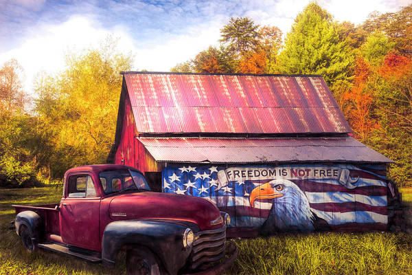 Wall Art - Photograph - Freedom Is Not Free Autumn Painting by Debra and Dave Vanderlaan