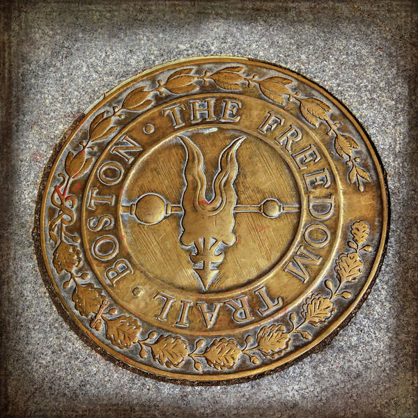 Wall Art - Photograph - Freedom Trail Marker Boston Massachusetts  by Carol Japp