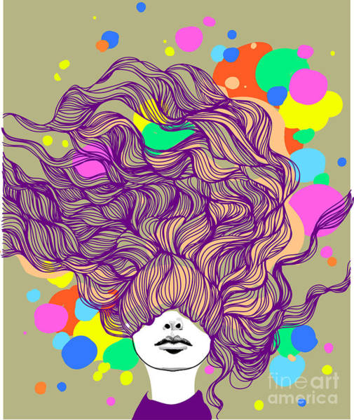 Wall Art - Digital Art - Freehand Vector Illustration With A by Alisa Franz