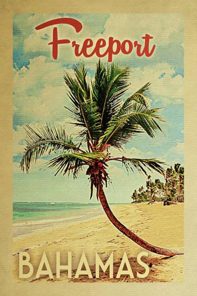 Wall Art - Digital Art - Freeport Bahamas Palm Tree by Flo Karp