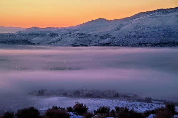 Wall Art - Photograph - Freezing Fog Covers The Valley Floor by Donna Kennedy