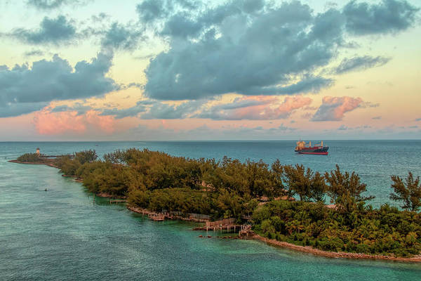 Photograph - Freighter Off Paradise Island by Kristia Adams