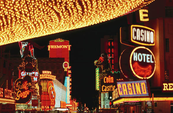 Wall Art - Photograph - Fremont Street Lights At Night, Las by Curtis Martin