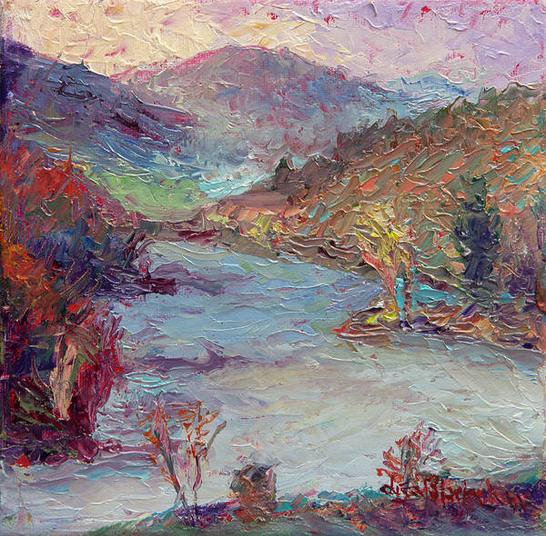 Painting - French Broad River Evening by Lisa Blackshear