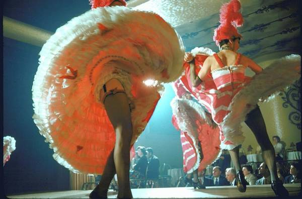 Photograph - French Cancan Dancers, Flipping Their Sk by Loomis Dean