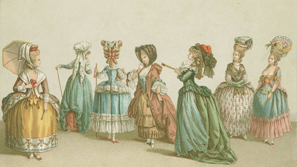 Parasol Photograph - French Fashions by Hulton Archive