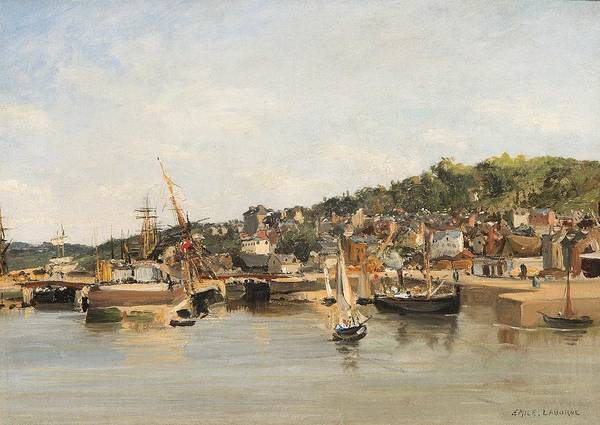 Wall Art - Painting - French Harbour By Emile Laborne by Emile Laborne