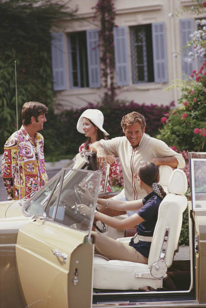 Smiling Photograph - French Holiday by Slim Aarons