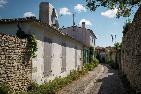 Photograph - french houses in the streets of Saint Martin de Re by Stefan Rotter