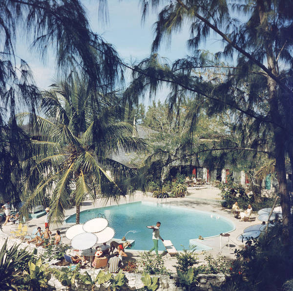 Horizontal Photograph - French Leave Hotel by Slim Aarons