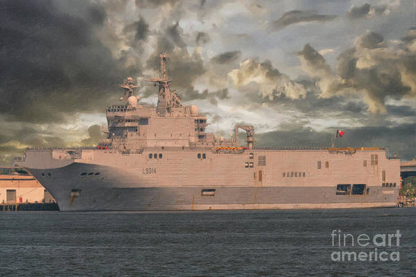 Painting - French Navy - L9014 Tonnerre by Dale Powell