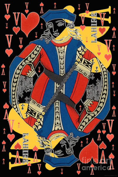 Digital Art - French Playing Card - Lahire, Valet De Coeur, Jack Of Hearts Pop Art - #2 by Jean luc Comperat