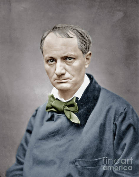 Wall Art - Photograph - French Poet Charles Baudelaire Photo By Etienne Carjat by Etienne Carjat