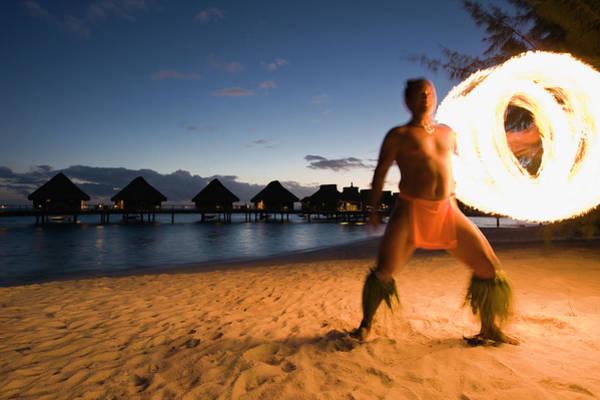 Fire Ring Photograph - French Polynesia, Bora Bora, Bora Bora by Michele Westmorland