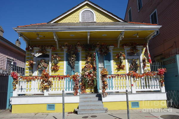 Photograph - French Quarter Decorated House  by Susan Carella