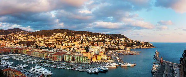 French Riviera Photograph - French Riviera - Nice Harbour by John And Tina Reid