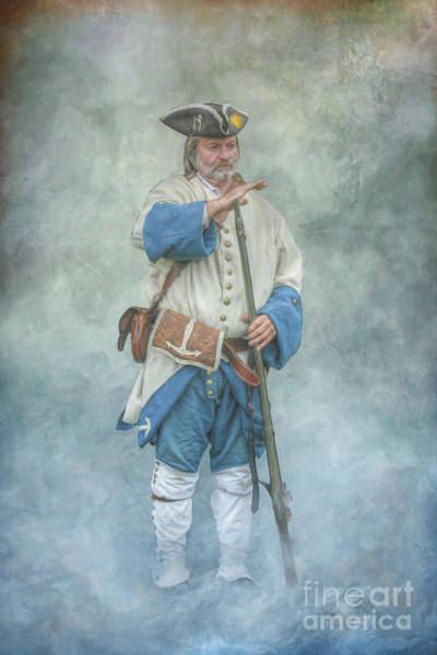 Wall Art - Digital Art - French Soldier Standing by Randy Steele