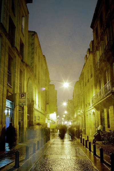 Walking In The Rain Wall Art - Photograph - French Street In The Rain by Silvia Otte