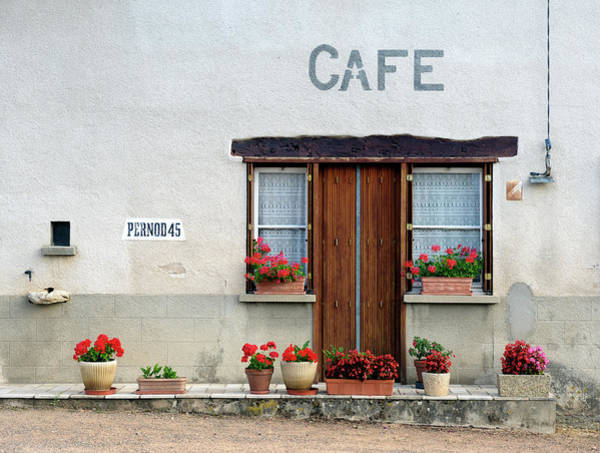 Plaster Photograph - French Village Cafe by Pidjoe