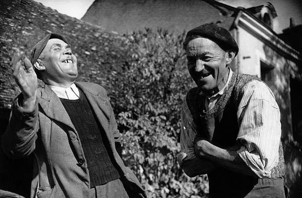 Senior Adult Photograph - French Villagers by Bert Hardy