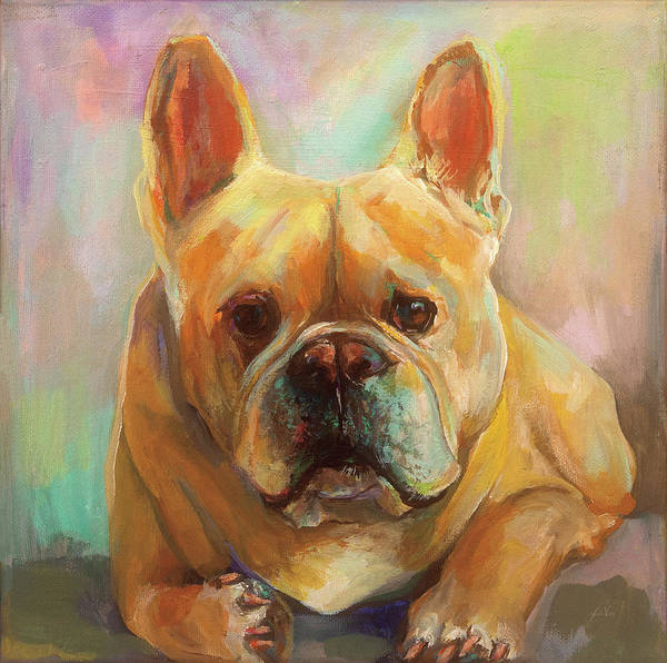 Wall Art - Painting - Frenchie by Jeanette Vertentes