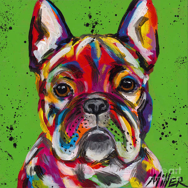 Wall Art - Painting - Frenchie by Tracy Miller