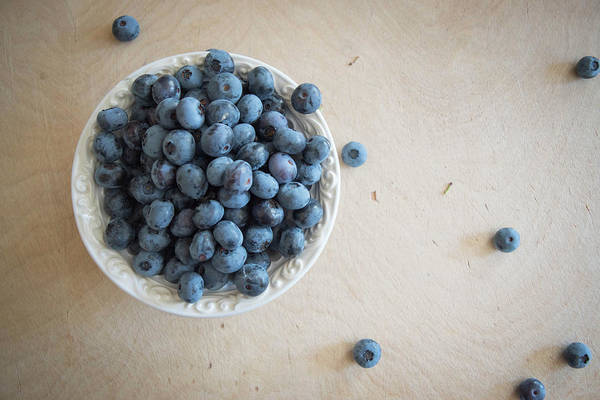 Wall Art - Photograph - Fresh Blueberries by Nancy Jacobson
