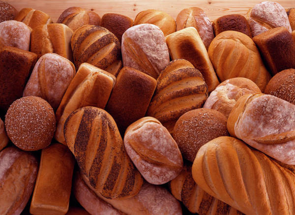 Buns Photograph - Fresh Bread Loaves by Terry Mccormick
