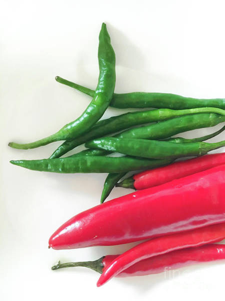 Wall Art - Photograph - Fresh Chilli Peppers by Tom Gowanlock