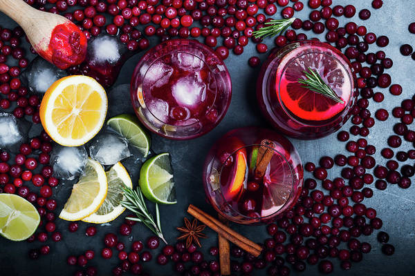 Photograph - Fresh Cranberry Juice Cocktail, Ripe by Istetiana