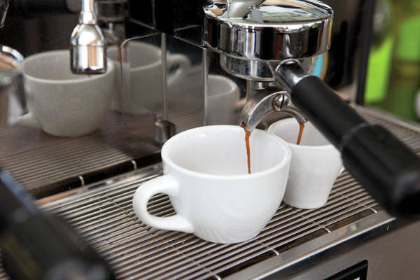Coffee Photograph - Fresh Espresso Pouring From Machine by Smith Collection