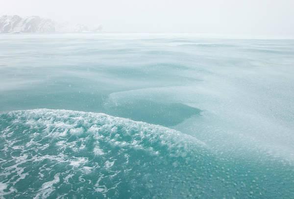 Georgia Photograph - Fresh Falling Snow Forms Icy Slush On by Eastcott Momatiuk