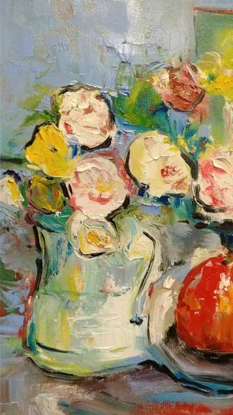 Painting - Fresh Flowers by Constance Paul