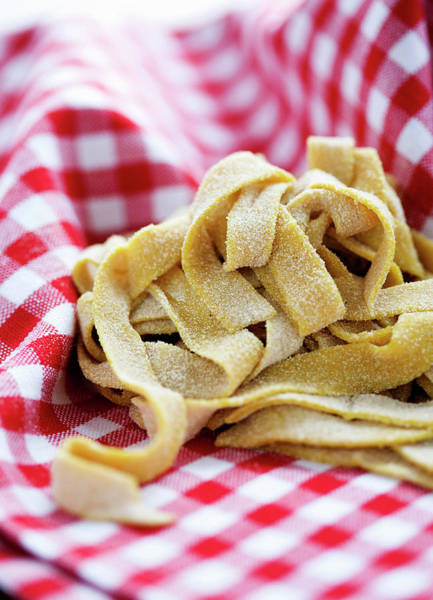 Wall Art - Photograph - Fresh Pasta In Cloth by Line Klein