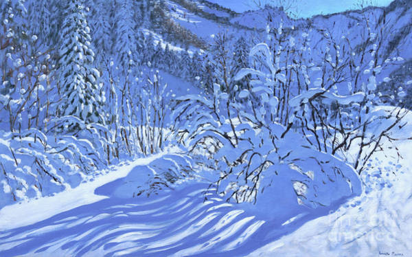 Wall Art - Painting - Fresh Snow, Les Arcs, France by Andrew Macara
