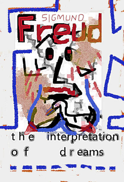 Drawing - Freud Poster  by Paul Sutcliffe