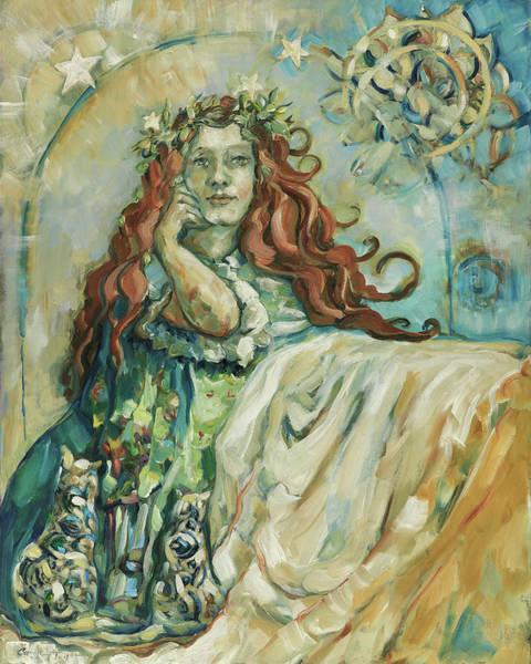 Wall Art - Painting - Freyja's Magic by Carrie Joy Byrnes