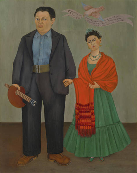 Wall Art - Painting - Frida And Diego Rivera by Frida Kahlo