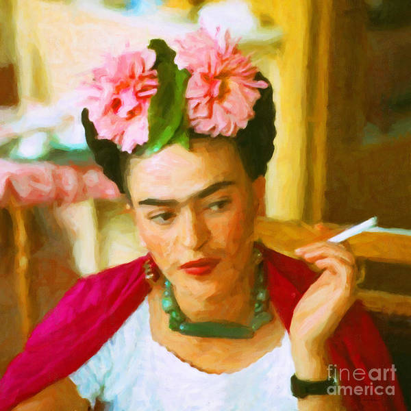 Photograph - Frida Kahlo 20180922 Square V2 by Wingsdomain Art and Photography