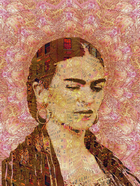 Mixed Media - Frida Kahlo City Artist by Tony Rubino