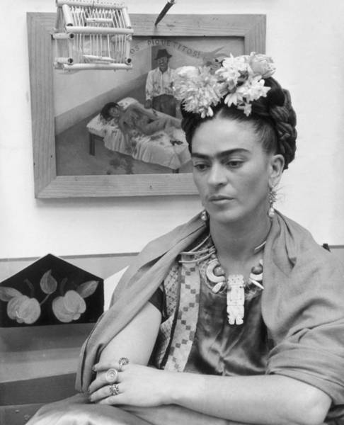 Cage Photograph - Frida Kahlo by Hulton Archive